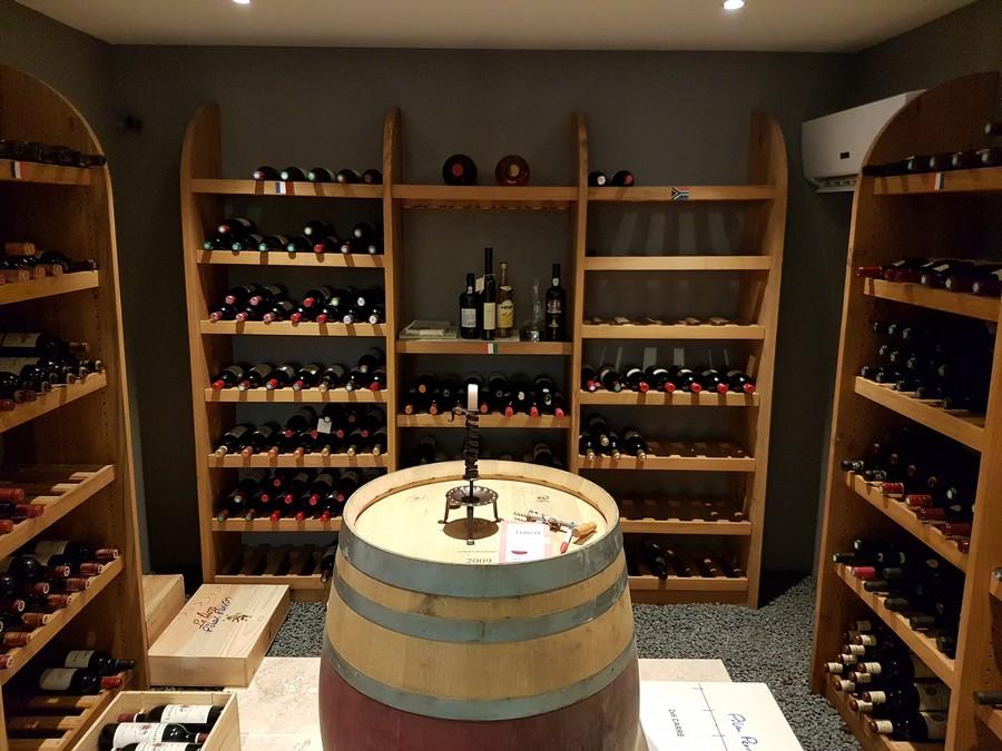 Cave à vin après